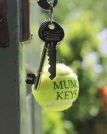 Personalised Tennis Ball Keyrings