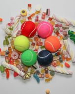 Pick 'n' Mix Coloured Tennis Balls, 4 Ball Tube