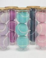 Pastel Coloured Tennis Balls Tubed