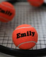 Personalised Coloured Tennis Balls Tubed
