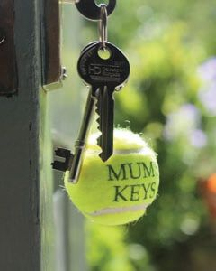 Personalised Tennis Ball Keyrings