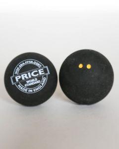 Black Double Dot Squash Ball