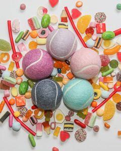 Pick 'n' Mix Pastel Coloured Tennis Balls, 3 Ball Tube