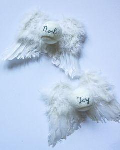 Bespoke Angel Wings Tennis Ball Decoration