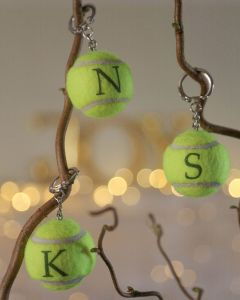 Plain Tennis Ball Keyrings