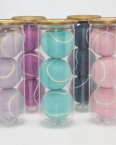 Pastel Coloured Tennis Balls Tubed