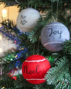Festive Christmas Tennis Ball Baubles