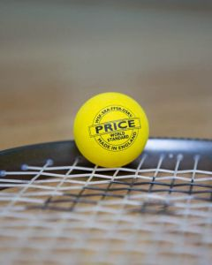 Price's Ultimate Yellow Double Dot Squash Ball
